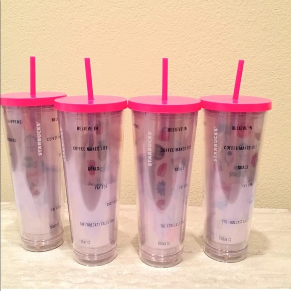 starbucks other venti diy sticker pink tumbler new poshmark